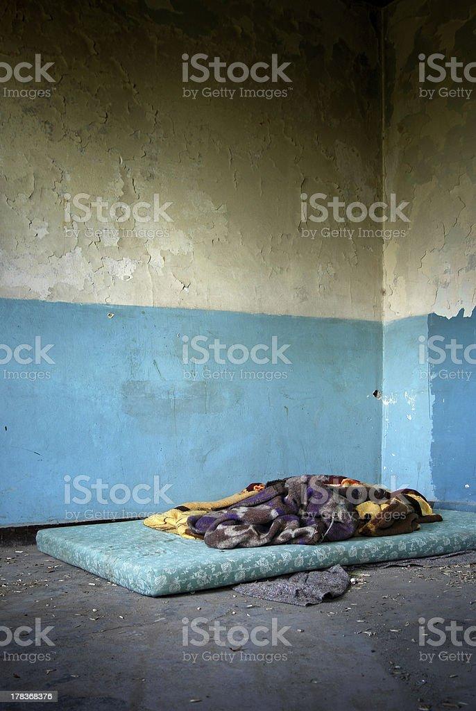 Derelict ruinous royalty-free stock photo