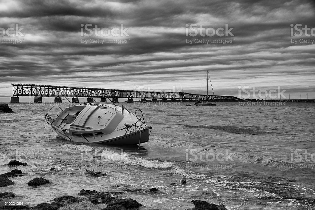 Derelict vessel stock photo