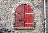 istock Derelict warehouse facade. 175534479