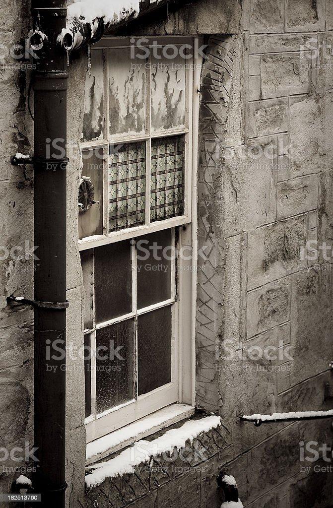 Derelict Window royalty-free stock photo