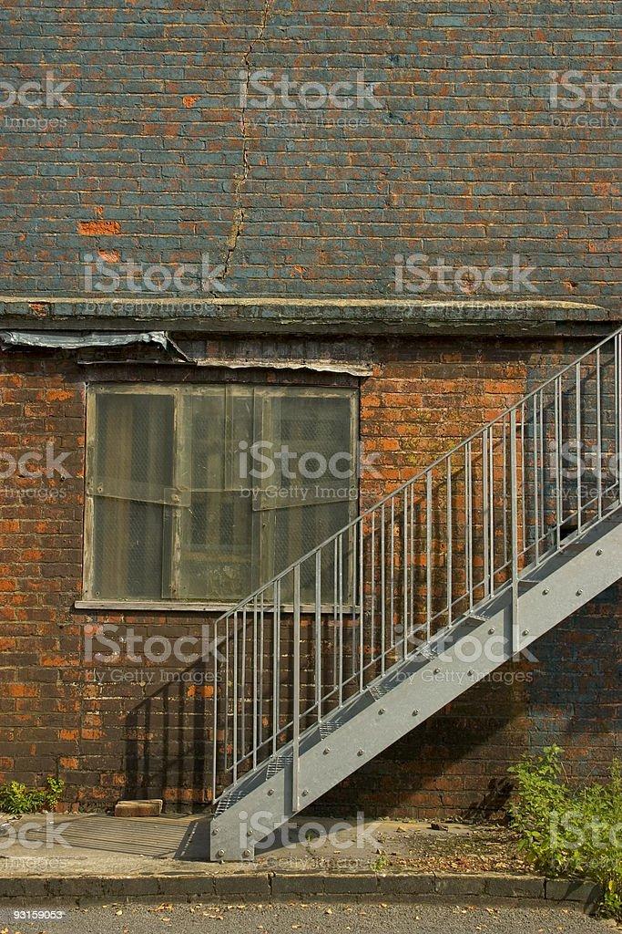 Derelict WW2 Building stock photo