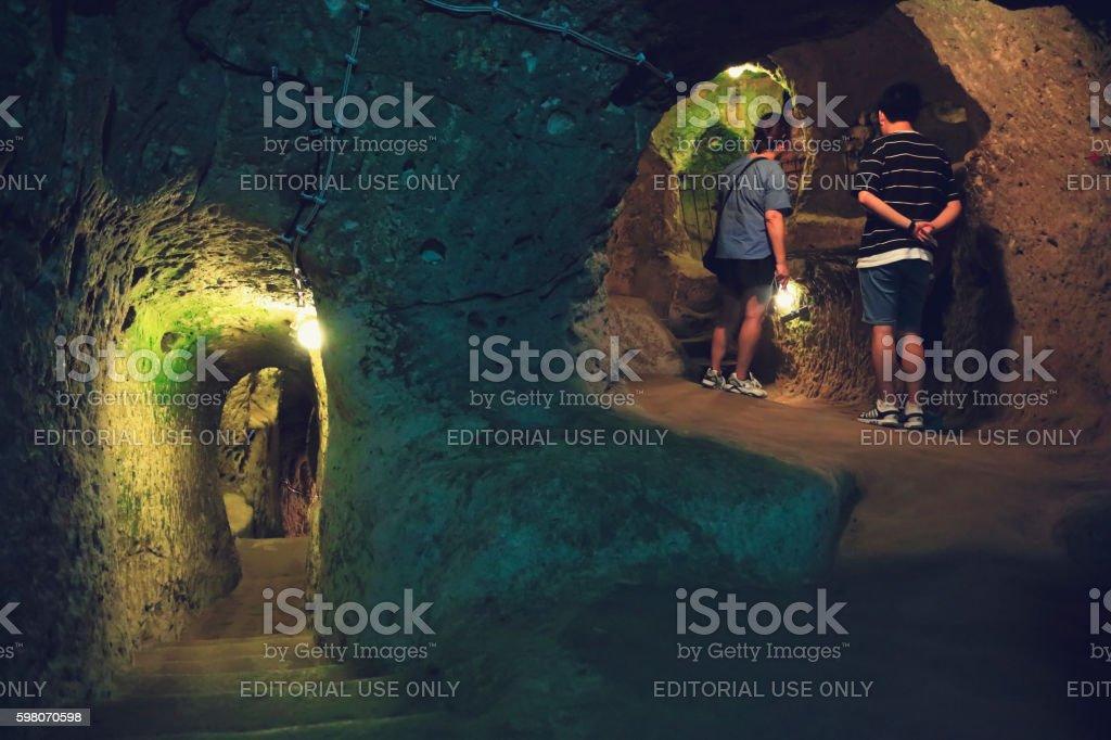 Derinkuyu Underground City stock photo