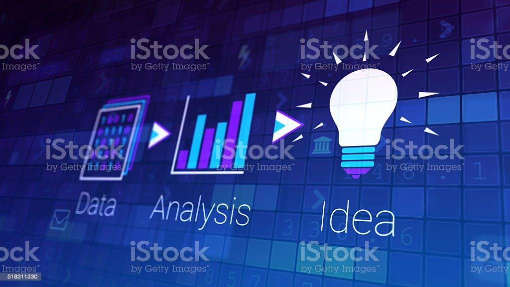 Deriving new ideas stock photo