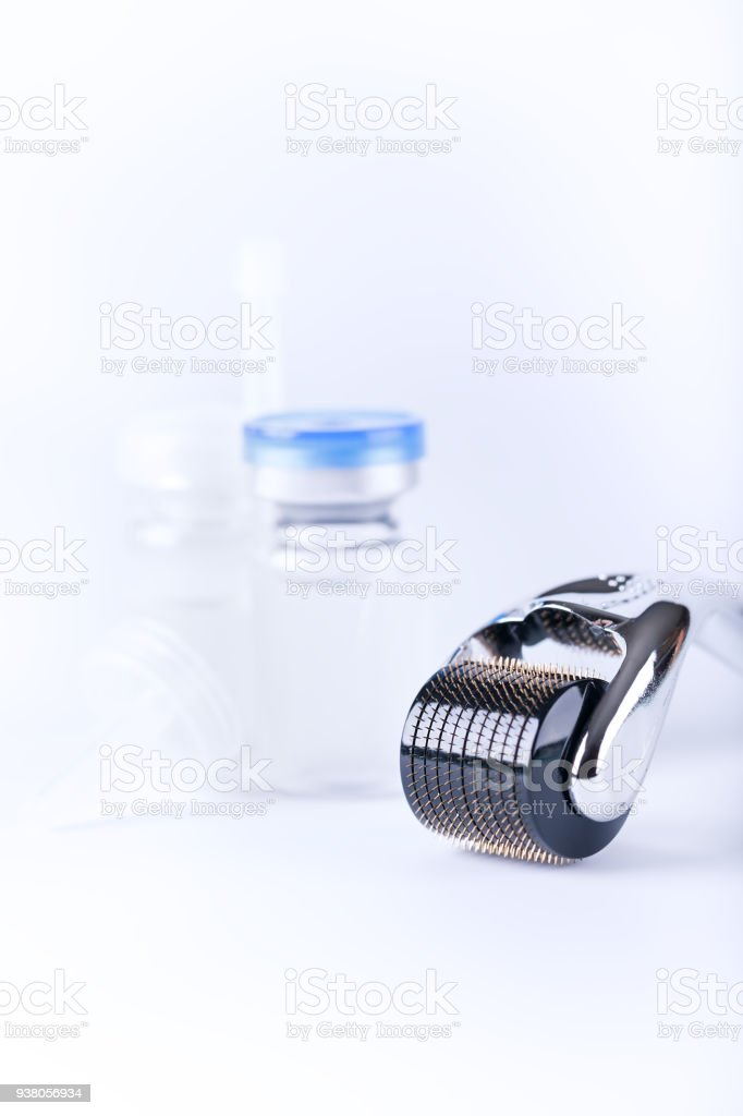 Derma Roller on white stock photo