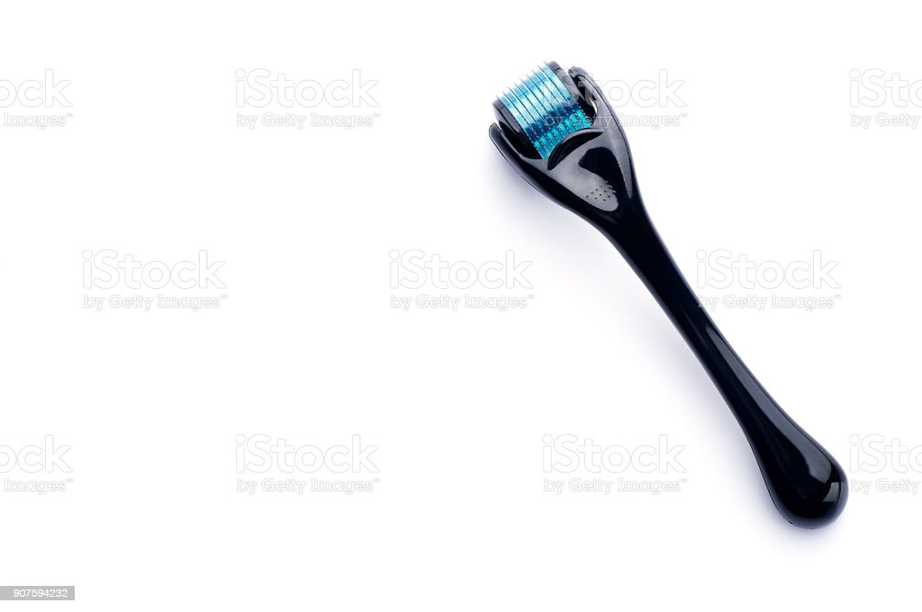 dermaroller for home mesotherapy stock photo