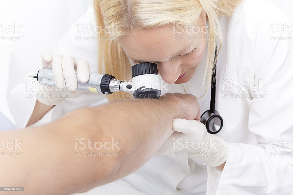 dermoscopy stock photo