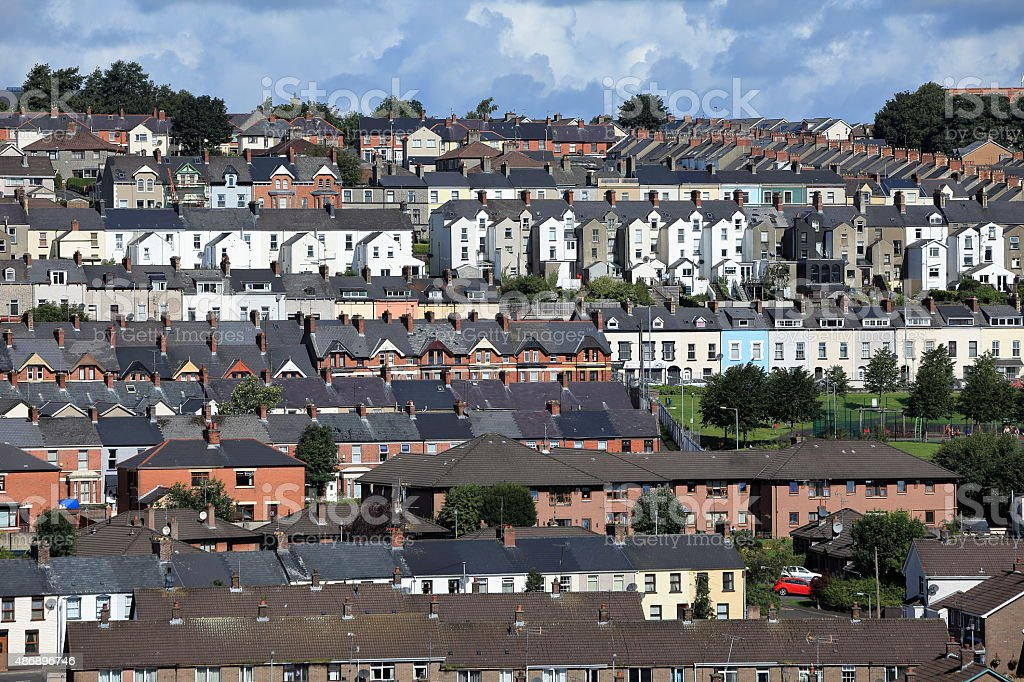 Die Stadt Derry in Nordirland stock photo