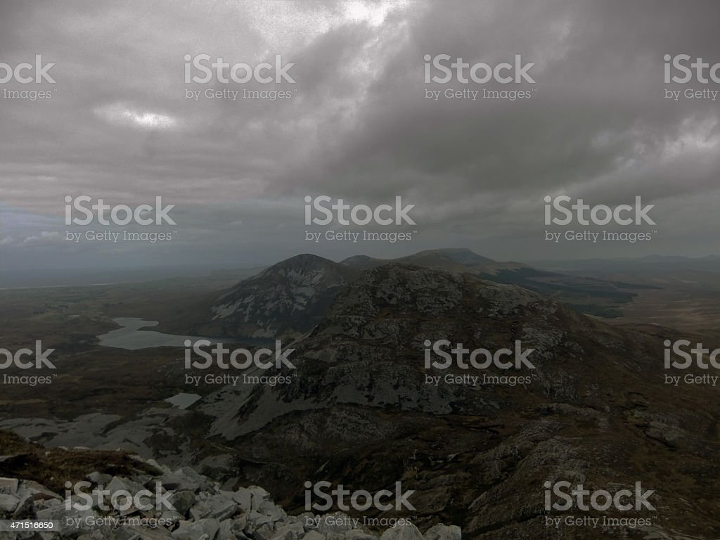 Derryveagh Mountains, Donegal Ireland stock photo