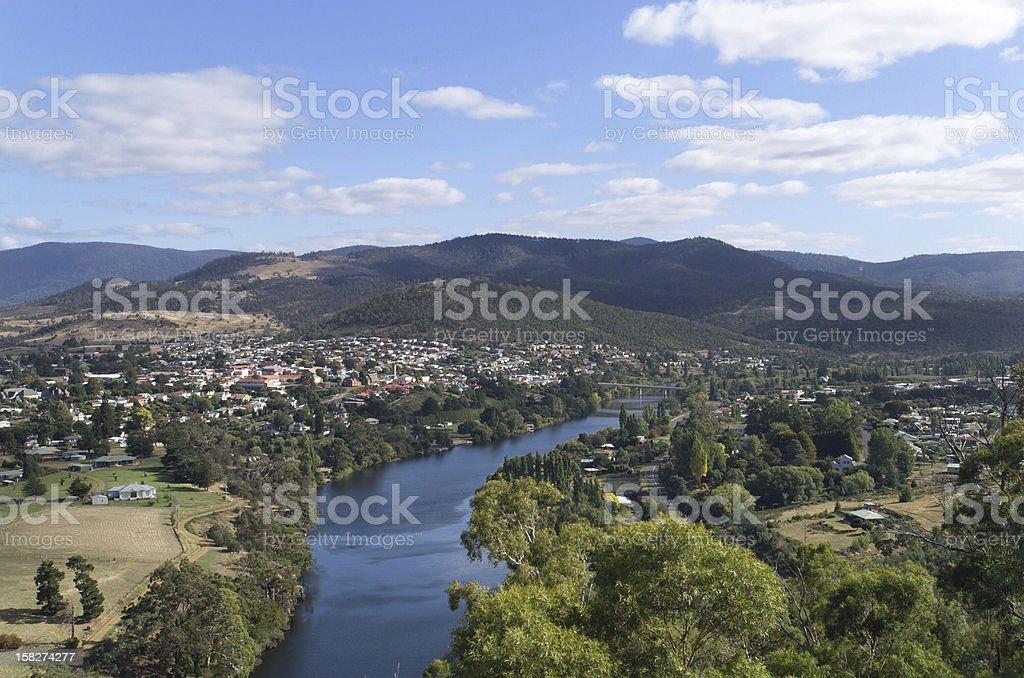 Derwent River, Tasmania stock photo