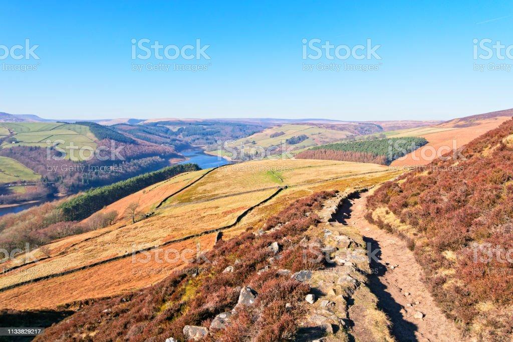 Derwent Valley on a bright hazy day stock photo