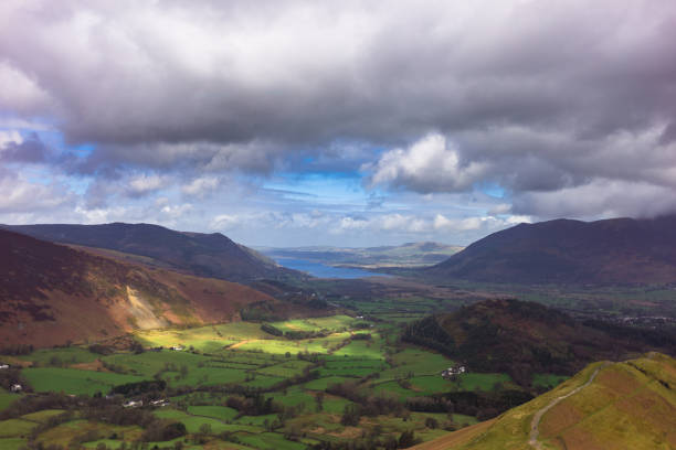 Derwent Water from Cat Bells stock photo