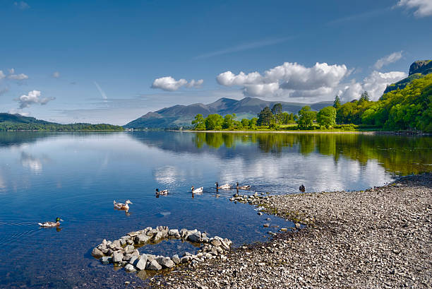 Derwent Water Lake stock photo