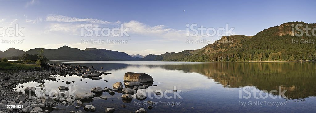 Derwent Water, UK Lake District, summer panorama. royalty-free stock photo