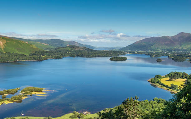 Derwent Water view from Surprise View, Lake District, Cumbria stock photo