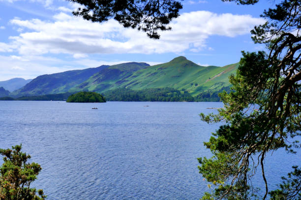 Derwentwater and Catbells, Cumbria, UK. stock photo