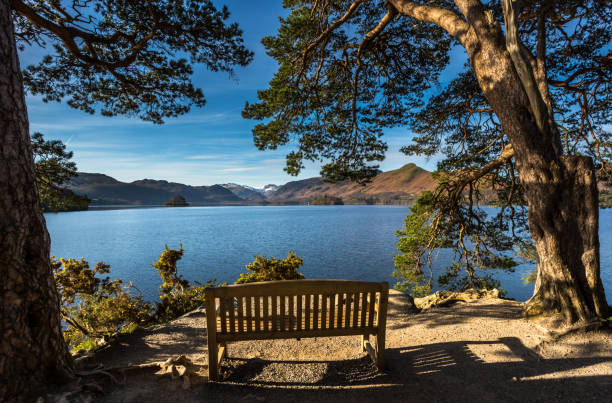 Derwentwater - Friars Crag stock photo