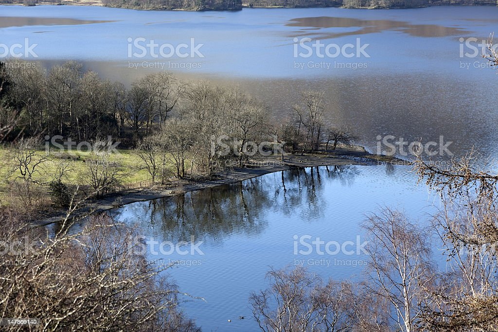 Derwentwater from the approach to Ashness Bridge stock photo