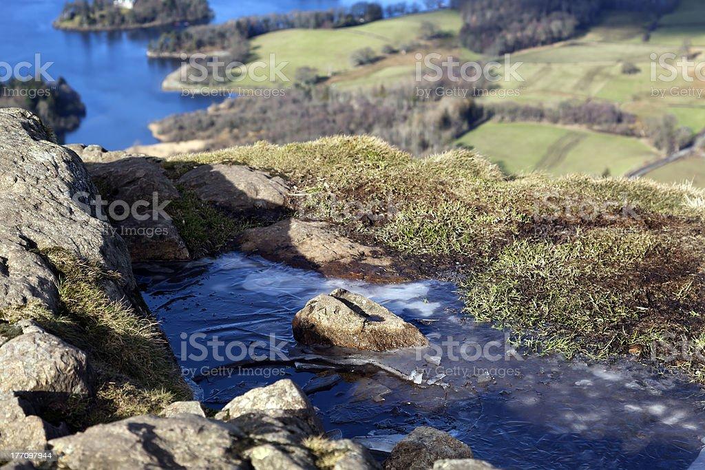 Derwentwater from Walla Cragg stock photo
