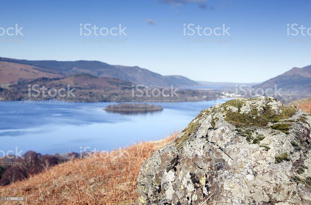 Derwentwater in Winter stock photo