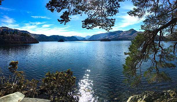 Derwentwater Keswick Cumbria. stock photo