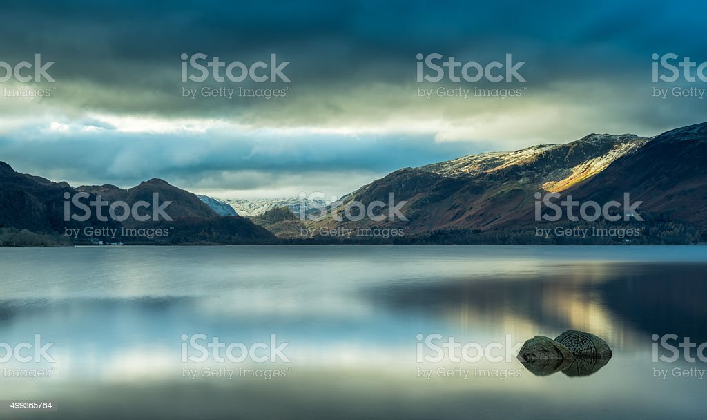 Derwentwater Winter Light stock photo