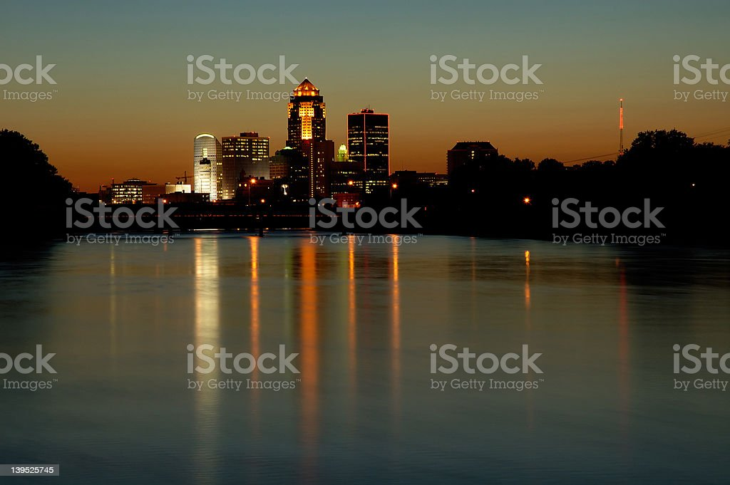 Des Moines Cityscape royalty-free stock photo