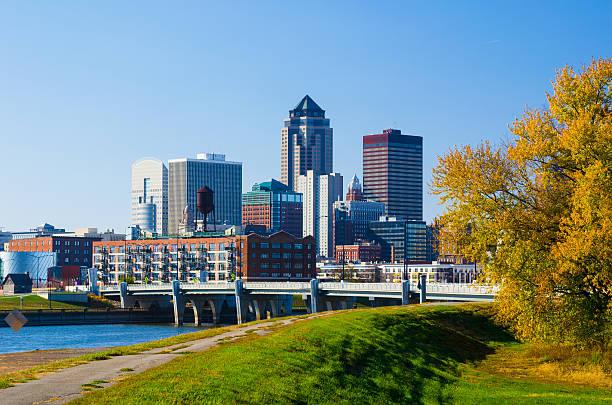 Des Moines Downtown Skyline stock photo