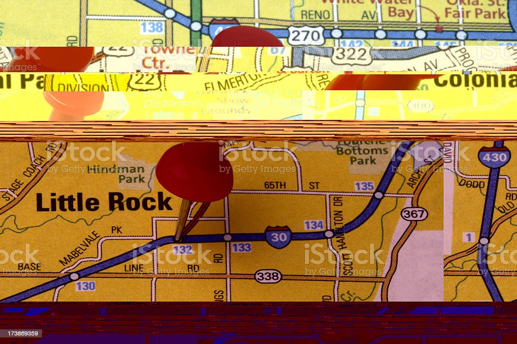 Des Moines, Iowa on a map. royalty-free stock photo