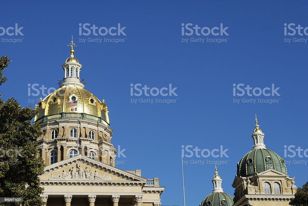 Des Moines, Iowa: State Capitol royalty-free stock photo