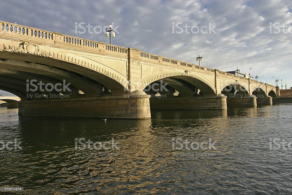 des moines river bridge royalty-free stock photo