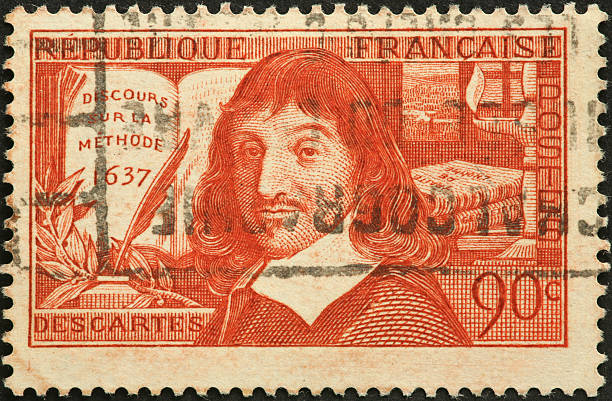 Descartes, French philosopher and mathematician stock photo