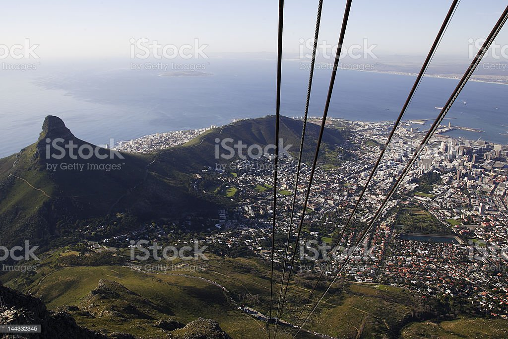 Descent from great height. royalty-free stock photo