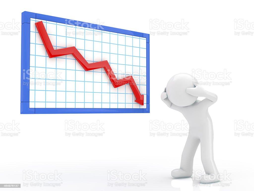 Descent graph stock photo