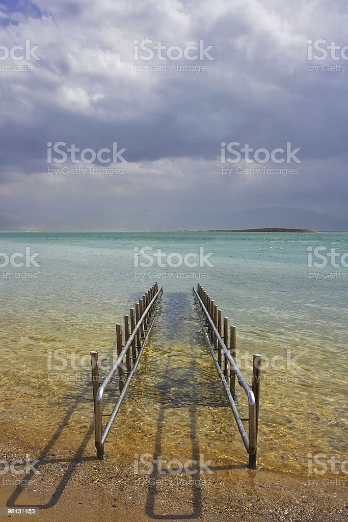 Descent in  beach to the sea royalty-free stock photo