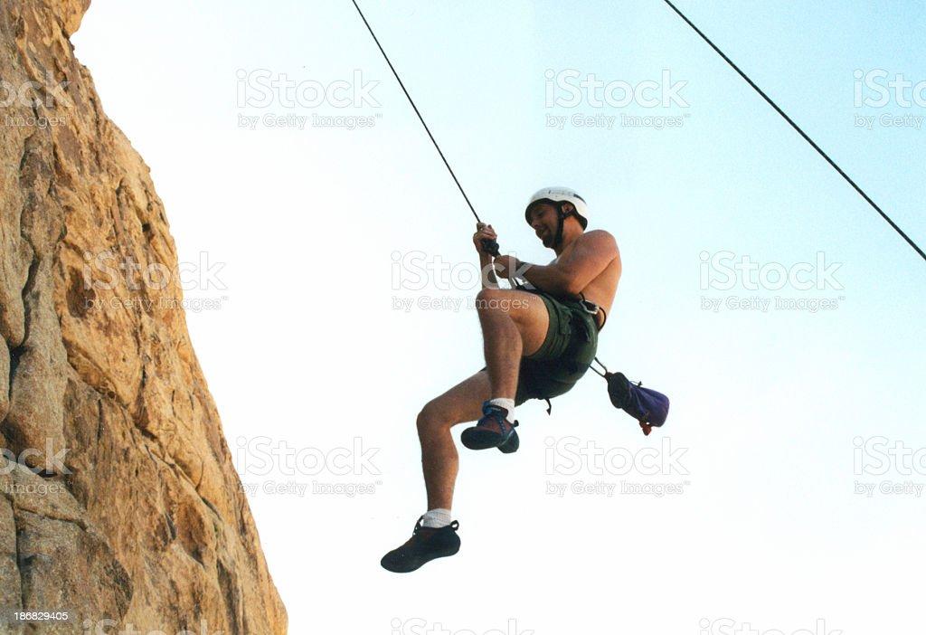 desending climber royalty-free stock photo