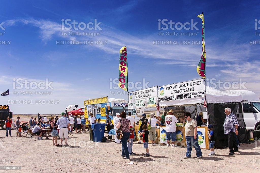 Desert Air Show Refreshments royalty-free stock photo