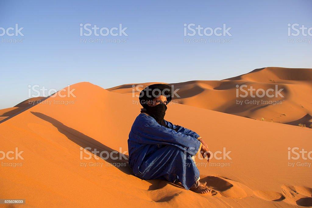 Desert and bedouin stock photo