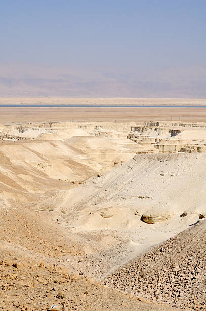Desert and Dead sea. Israel. View to Jordan through the Dead Sea negev stock pictures, royalty-free photos & images