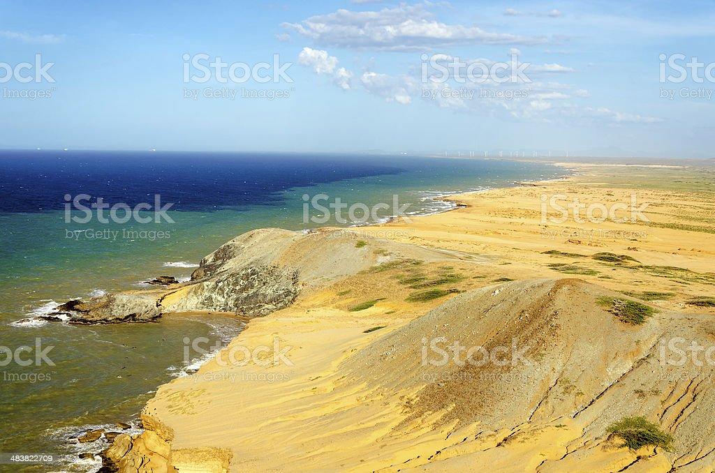 Desert and Sea stock photo