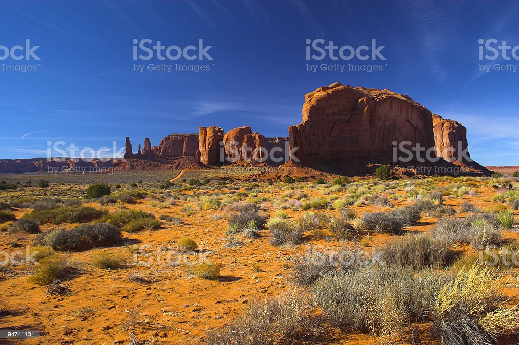 Desert and the red rock royalty-free stock photo