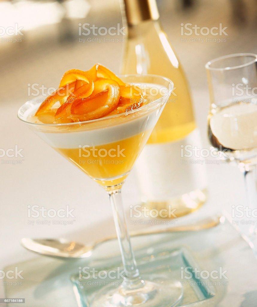 desert and wine stock photo