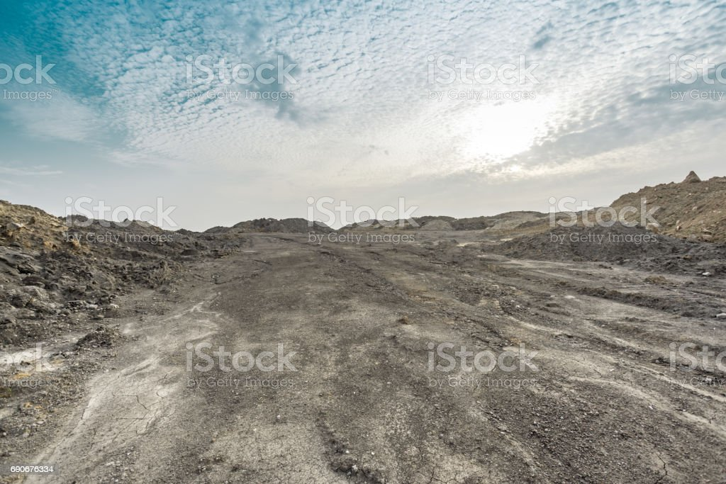 desert area with no plants stock photo