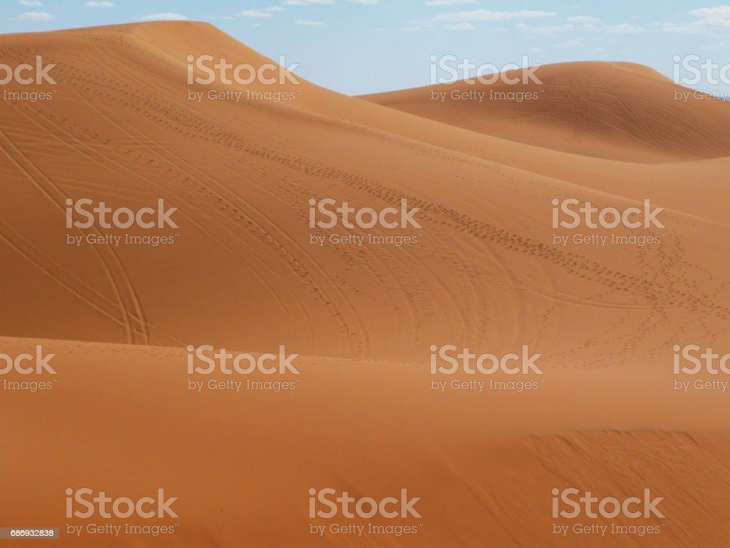 Desert at Merzouga, eastern Morocco - Photo