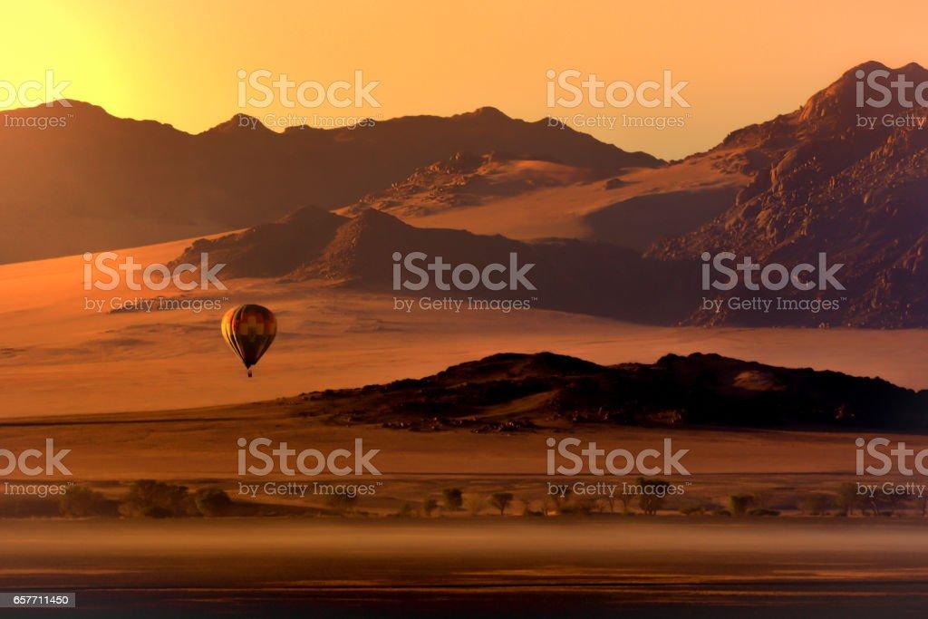 Desert Ballooning stock photo