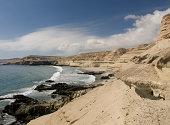 Near Bahia Inglesa, a cliff-surrounded beach in the Atacama Desert