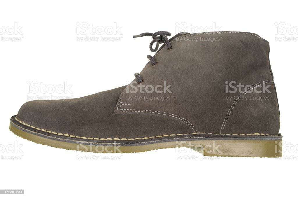 Desert Boot Type Shoe Isolated On White royalty-free stock photo