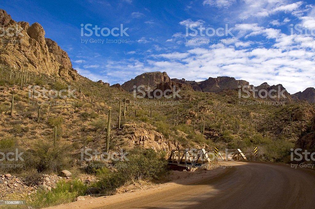 Desert Bridge stock photo
