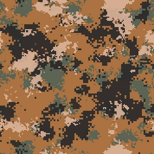 wüsten-camouflage-muster.  seamless tileable textur. - flecktarn stock-fotos und bilder