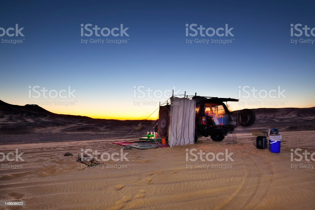 Desert Camping royalty-free stock photo