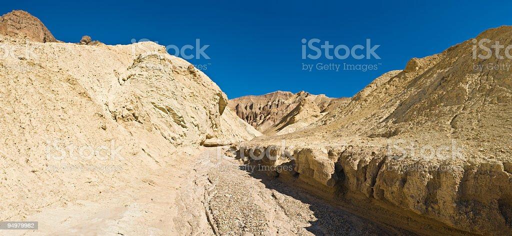 Desert canyon dry river stock photo